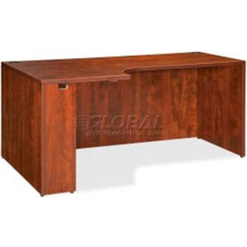 """Lorell® Left Hand Credenza - 66""""W x 36""""D x 29-1/2""""H - Cherry - Essentials Series"""