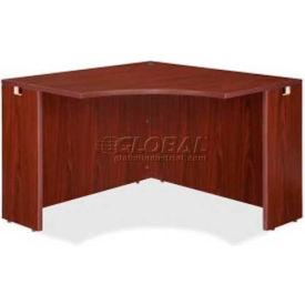 "Lorell® Corner Desk - 42""W x 24""D x 29-1/2""H - Mahogany - Essentials Series"