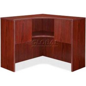 """Lorell® Corner Hutch - 41""""W x 41""""D x 36""""H - Mahogany - Essentials Series"""