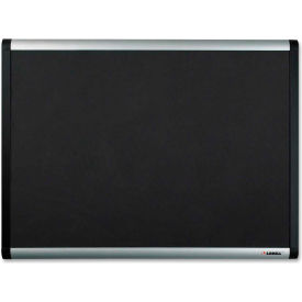 "Lorell Mesh Bulletin Board with Silver/Black Frame, 48""W x 36""H"