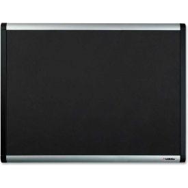 "Lorell Mesh Bulletin Board with Silver/Black Frame, 36""W x 24""H"