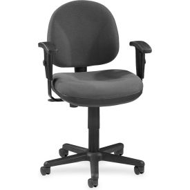 "Lorell® Millenia Pneumatic Adjustable Task Chair, 24""W x 24""D x 38""H, Gray"