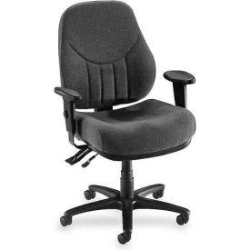 "Lorell® Baily High-Back Multi-Task Chair, 27""W x 28""D x 44""H, Gray"