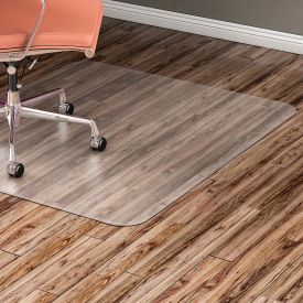 """Lorell Office Chair Mat for Hard Floor - 36""""W x 48""""L - Straight Edge - Clear"""