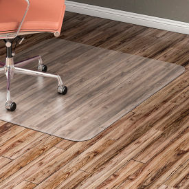 "Lorell Office Chair Mat for Hard Floor - 46""W x 60""L - Straight Edge - Clear"