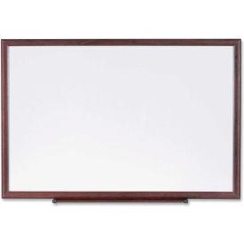 "Lorell Dry-Erase Board, White Melamine, Wood Frame, 36""W x 24""H"