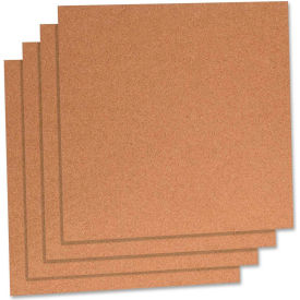 """Lorell Natural Cork Panels with Frame, 12""""W x 12""""H"""