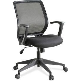 Lorell Mesh-Back Executive Chair, LLR84868, Fabric, Black