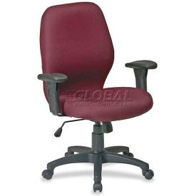 "Lorell® High Performance Ergonomic Chair, 27-1/4""W x 25-1/2""D x 41-1/2""H, Burgundy"