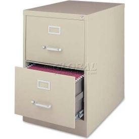 "Lorell Commercial Grade 2-Drawer Vertical File Cabinet, LLR88042, 18""W x 28-1/2""D x 28-3/4""H, Putty"