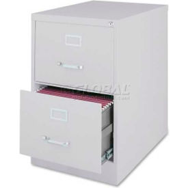 """Lorell Commercial Grade 2-Drawer Vertical File Cabinet, LLR88044, 18""""W x 28-1/2""""D x 28-3/4""""H, Gray"""