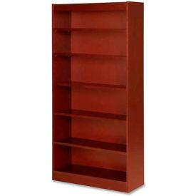 "Lorell® 6-Shelf Panel End Hardwood Veneer Bookcase, 36""W x 12""D x 72""H, Cherry"