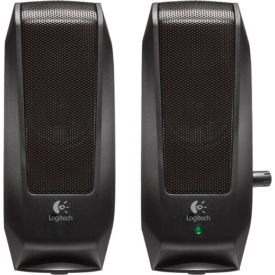 Logitech S-120 Speaker System, LOG980-000012, 2.3 W RMS Output, 50 Hz to 20 kHz
