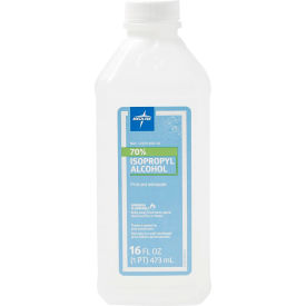 Medline MDS098003Z 70% Isopropyl Rubbing Alcohol, 16 oz. Bottle - Pkg Qty 4
