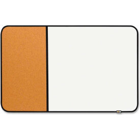 """Post-it Sticky Cork and Dry-Erase Board with Black Frame, 34""""W x 22""""H"""