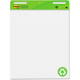 "Post-it Recycled Self-Stick Easel Pad - 30 Sheet - 25"" x 30"" - White Paper Black Cover"