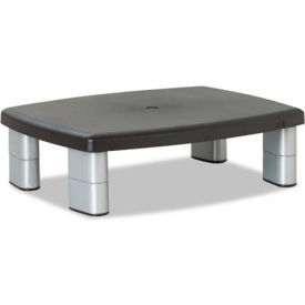 3M™ MS80B Adjustable Monitor Stand, Black/Silver