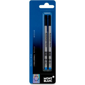 MontBlanc Rollerball Pen Refill For Classique and Starwalker, Blue Ink, Medium Tip, 2/Pack by