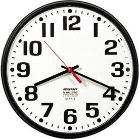 Clocks Time Clocks Clocks Skilcraft 12 75 Quot Slimline Wall Clock Black B2186404 Globalindustrial Com
