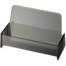 Officemate® Broad Base Business Card Holder, Plastic, Smoke