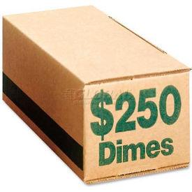 PM Company SecurIT® Coin Box 61010, $250 Dimes Capacity, 50/Pk