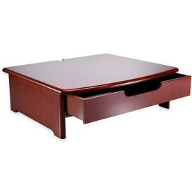 "Rolodex Woodtone Monitor Stand, ROL82436, 4.75"" x 15"" x 13.25"", Mahogany, Up to 35Lb Capacity"