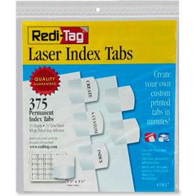 Redi-Tag Laser Index Tab/Blank, 375 Tabs, White/White
