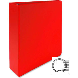 "3-Ring Binder, 2"" Capacity, 11""x8-1/2"", Red by"