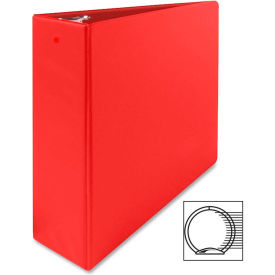 "3 Ring Binder W/Sht Lifters, 3"" Capacity, 11""x8-1/2"", Red by"