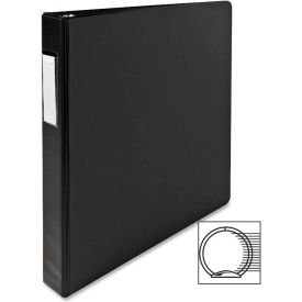 """3 Ring Label Hold Binder, 1"""" Capacity, 11""""x8-1/2"""", Black by"""