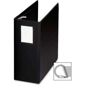 "Click here to buy Slant Ring Binder W/Label holder, 5"" Cap, 8-1/2""x11"", Black."