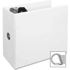 """Slant Ring View Binder, w/ Spine Hole, 5"""" Cap., 11""""x8-1/2"""", White by"""