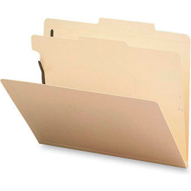 "Classification Folders, 1 Divider, 2"" Exp, Letter, 10/Box, Manila by"