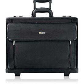 "Solo® Rolling Laptop Case, PV784, 18-1/4"" X 10-1/2"" X 14-3/4"", Polyvinyl/Polyester, Black"