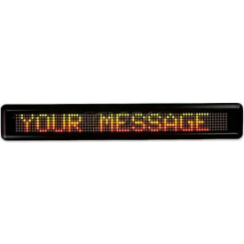 """U.S. Stamp & Sign Message LED Signs, 2827, 16 Characters, Customizable, 4-1/2"""" X 29"""" X 2"""", Black"""