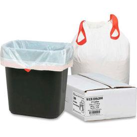 Bulk Tall Kitchen Drawstring Trash Bags - White, 13 Gallon, 0.9 Mil, 200/Box