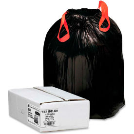 Bulk Outdoor Drawstring Trash Bags Black 33 Gallon 1 2 Mil 150