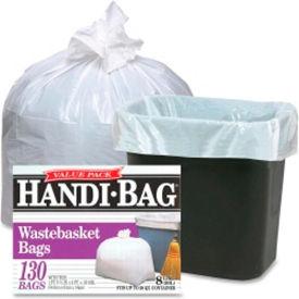 Webster Handi Bag Waste Liners - White, 8 Gallon, 0.60 Mil