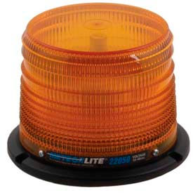 Meteorlite™ 22050 Low-Profile Strobe Light SY22050L-A - 12-48 Volts - Permanent Mount - Amber