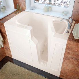 MediTub 2646 Series Rectangular Whirlpool Walk-In Bathtub, 26 x 46, Right Drain , Biscuit