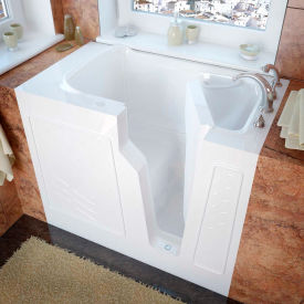 MediTub 2646 Series Rectangular Soaking Walk-In Bathtub, 26 x 46, Right Drain, White