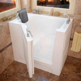 MediTub 2739 Series Rectangular Whirlpool Walk-In Bathtub, 27 x 39, Right Drain , White