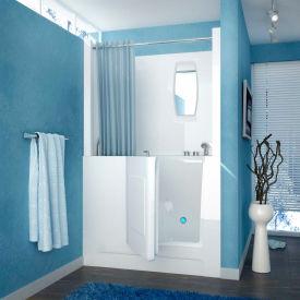 MediTub 2747 Series Rectangular Air Jetted Walk-In Bathtub, 27 x 47, Right Drain, White