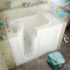 MediTub 2952 Series Rectangular Air & Whirlpool Walk-In Bathtub, 29 x 52, Left Drain, White