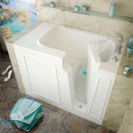 MediTub 2952 Series Rectangular Soaking Walk-In Bathtub, 29 x 52, Right Drain, White