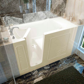 MediTub 3060 Series Rectangular Soaking Walk-In Bathtub, 30 x 60, Left Drain, Biscuit