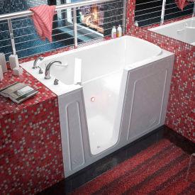 MediTub 3260 Series Rectangular Soaking Walk-In Bathtub, 32 x 60, Left Drain, White