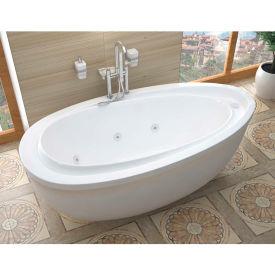 Atlantis Whirlpools Breeze Oval Freestanding Whirlpool Bathtub, 38 x 71, Left or Right Drain, White