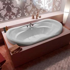 Atlantis Whirlpools Indulgence Oval Whirlpool Bathtub, 41 x 70, Center Drain, White