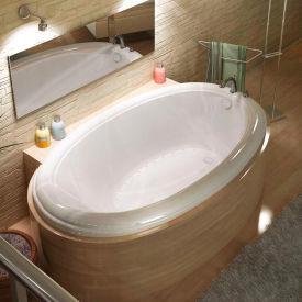 Atlantis Whirlpools Petite Oval Air Jetted Bathtub, 44 x 78, Center Drain, White